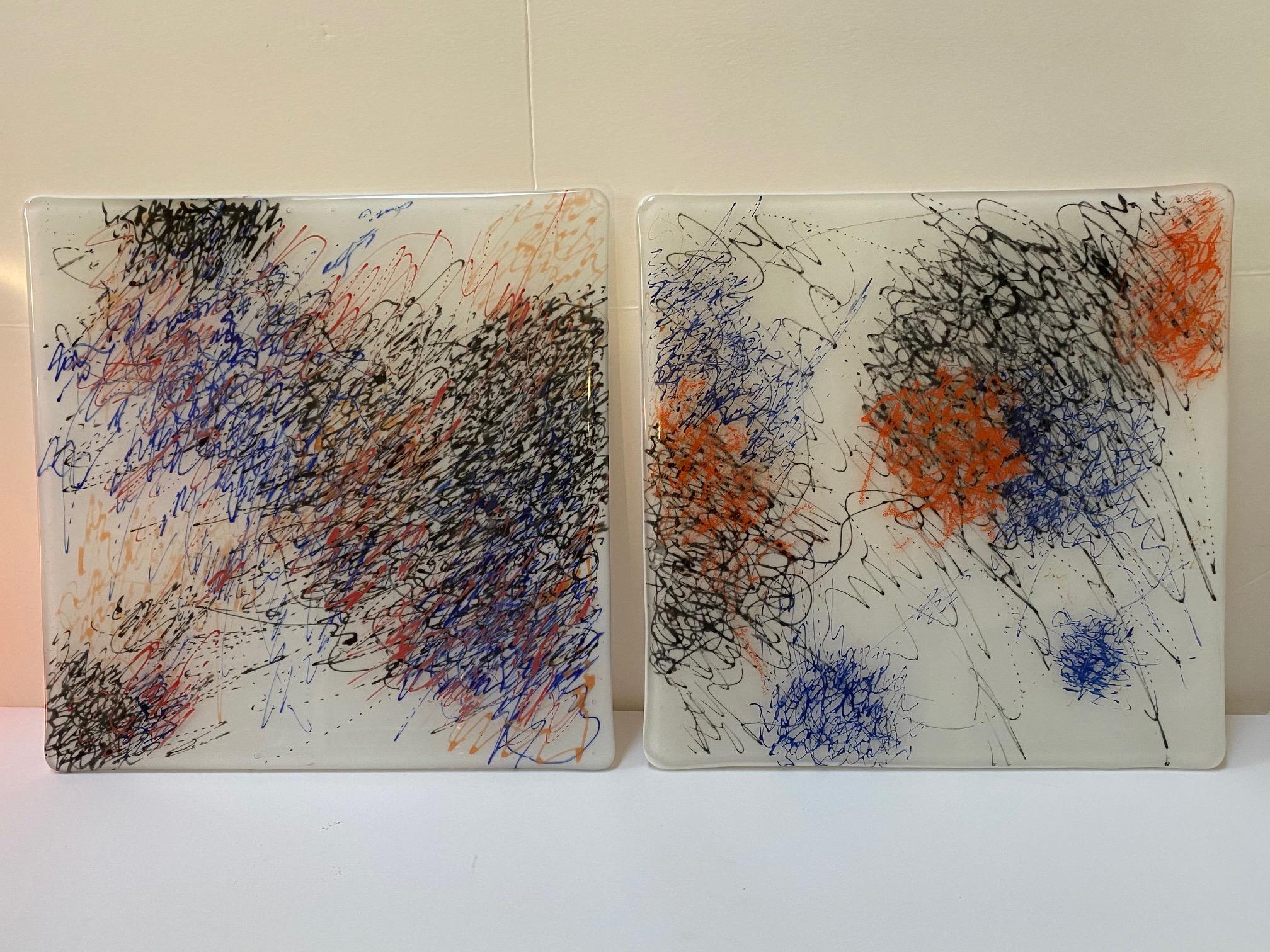 Detangled Panel. white 1 & 2