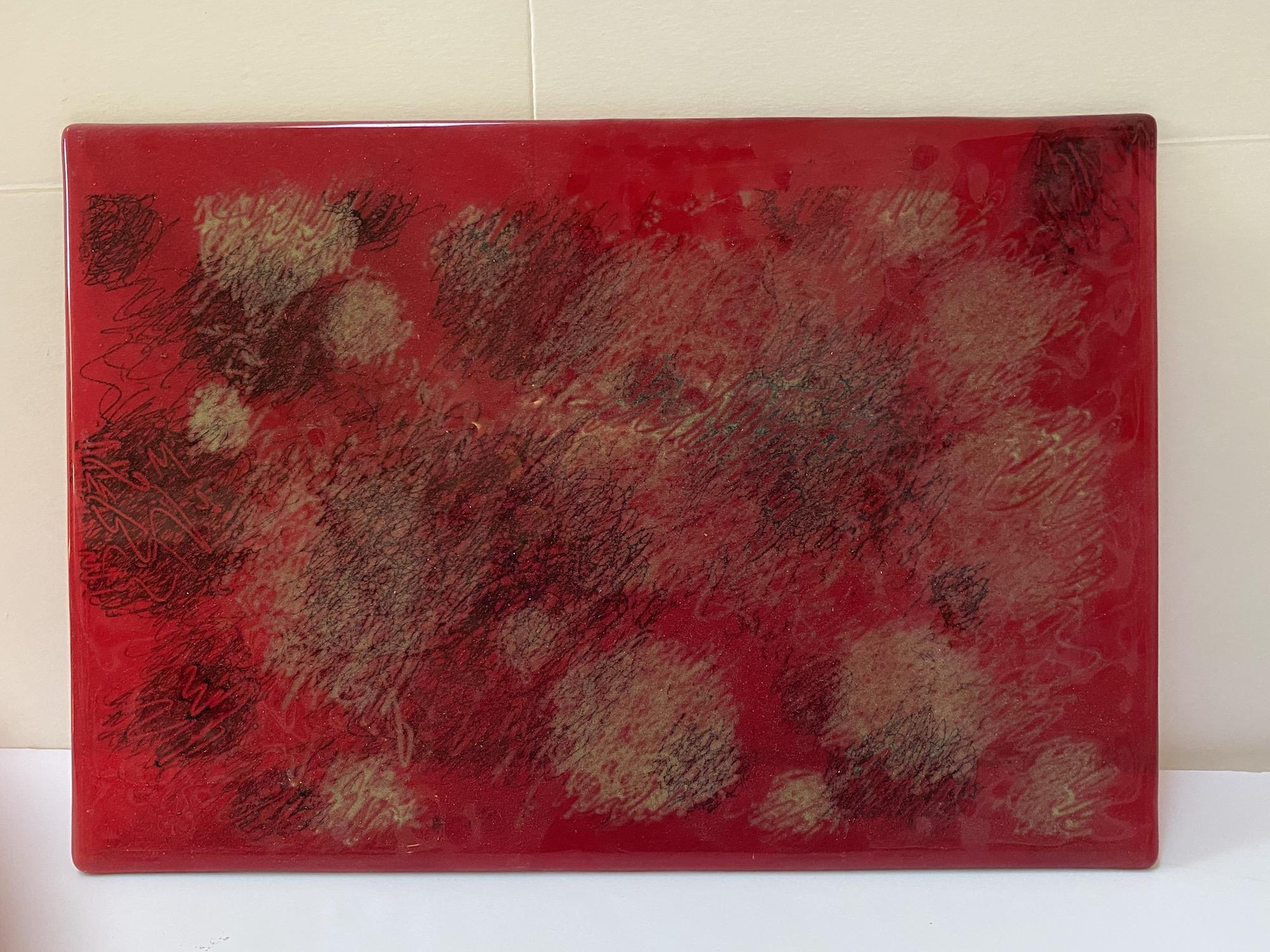 Detangled Panel, Red